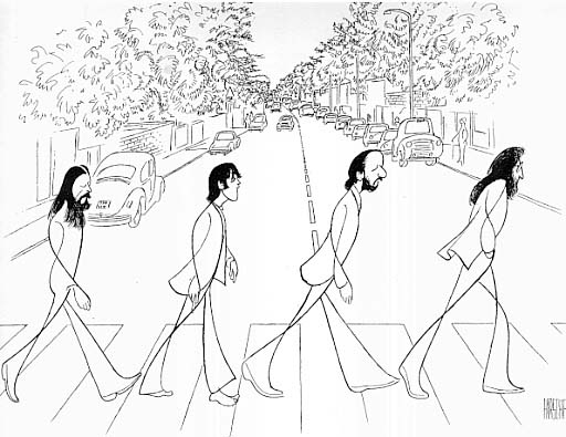 Abbey Road Al hirschfeld